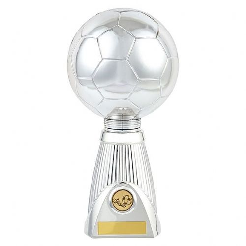 Planet Football Deluxe Rapid 2 Trophy Silver & Black 285mm
